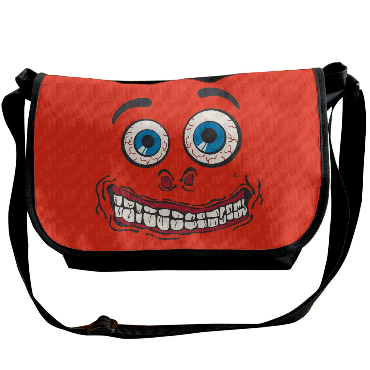 Mens Womens Fashion Cross-Body Bag Silly Face Single Shoulder Pack For Business Travel School Or Leisure