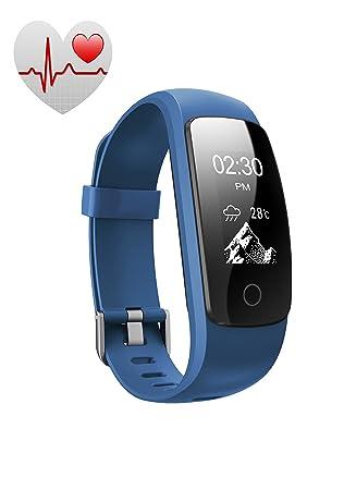Pulsera Actividad Pulsómetro Impermeable (IP67) FP5 Funker PULSE FITNESS. Pulsera Inteligente con Monitor de Ritmo Cardíaco, Actividad, Pasos, ...