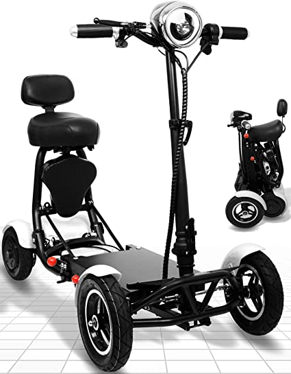 Ephesus S5 —New 2020 Model— Electric Mobility Scooter |Foldable, Lightweight, Battery Power| (White)