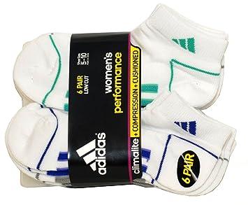 adidas de la mujer corte bajo rendimiento calcetines - 6 pares - para zapatos tamaño 5 - 10: Amazon.es: Deportes y aire libre