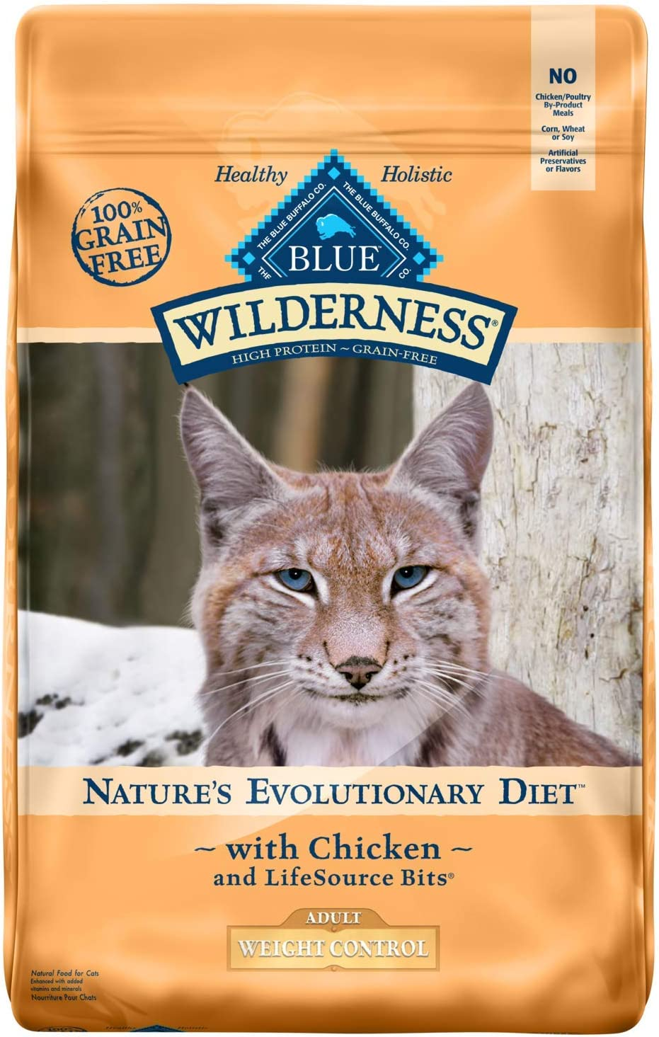 Blue Buffalo Wilderness High Protein, Natural Adult Weight Control Dry Cat Food, Chicken
