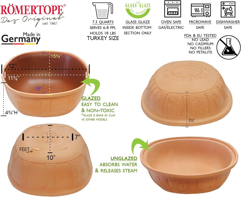 Romertopf Extra Large for Turkey Glazed Clay Roaster