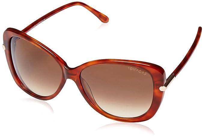 04b8066fbd Tom Ford Gafas de Sol Linda (59 mm) Marrón: Amazon.es: Ropa y accesorios