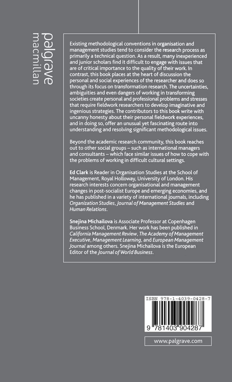 Fieldwork in Transforming Societies: Understanding