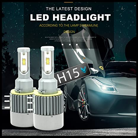 H15 LED HeadLight Kit, 110W Seoul CSP Chips 12000LM H15 LED Kit de conversión Faro
