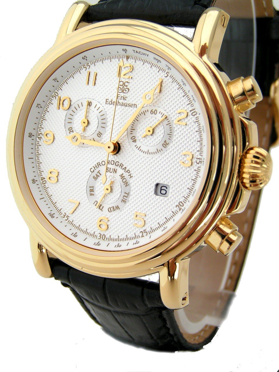 Eric Edelhausen ''Executive'' Men's Dress Chronograph Watch with Day and Date