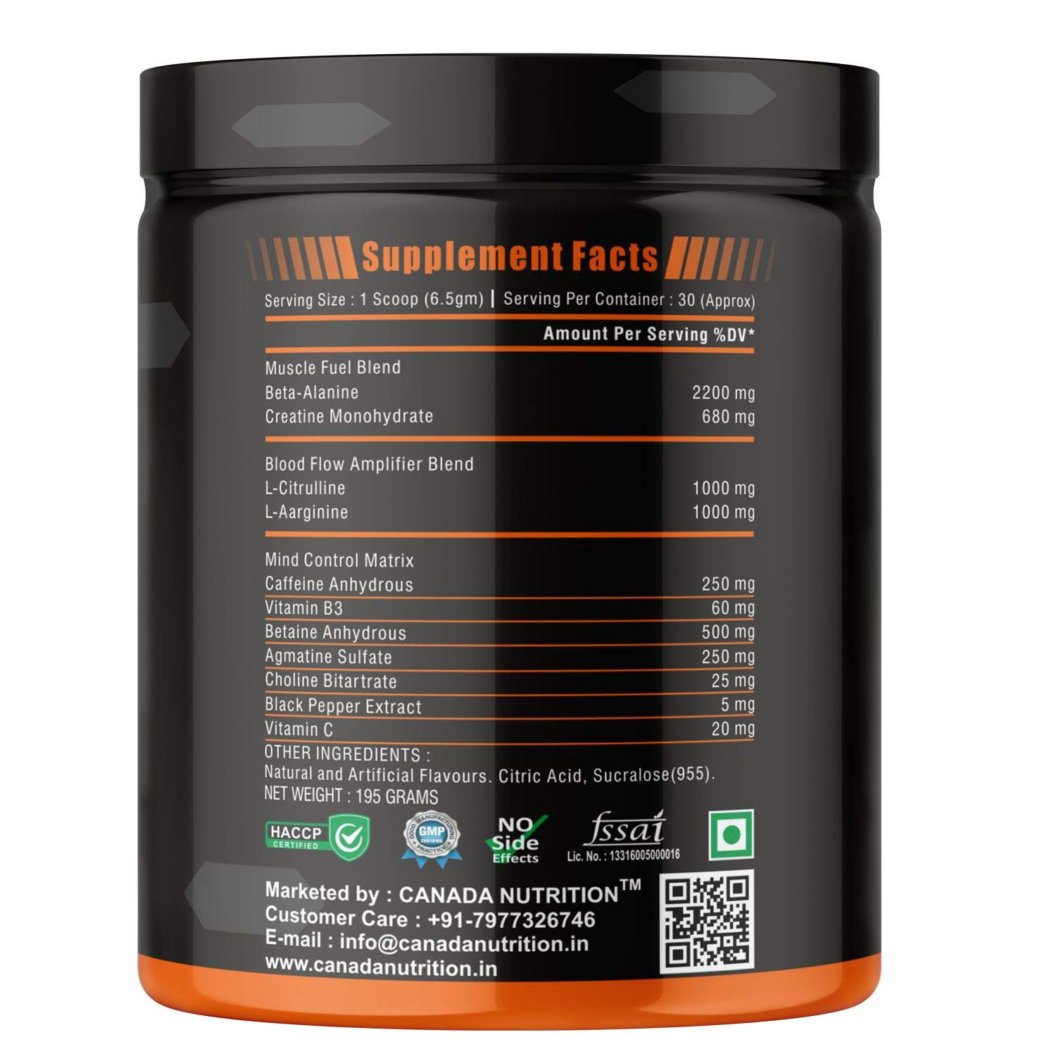 Allnutrition Pre-Workout 120g 4serv Focus Energy Endurance Citrulline B.alanine