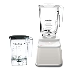 Blendtec Designer 625 Blender - WildSide+ Jar (90 oz) and Mini WildSide+ Jar (46 oz) BUNDLE - Professional-Grade Power - 4 Pre-Programmed Cycles - 6-Speeds - Sleek and Slim - Polar White