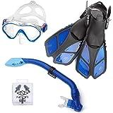 ELEMENTEX Naga Kids Snorkel Set with Trek Fins and Carrying Bag