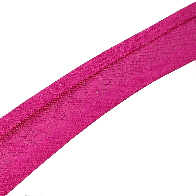 25mm Bias Binding Tape Trim 100/% Cotton 10m Bright Pink
