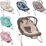 Babywippe / Babywiege / Babyschaukel (Inklusive Spielbogen mit 3 Figuren) + Vibrationsfunktion & Musikfunktion (12 Melodien)