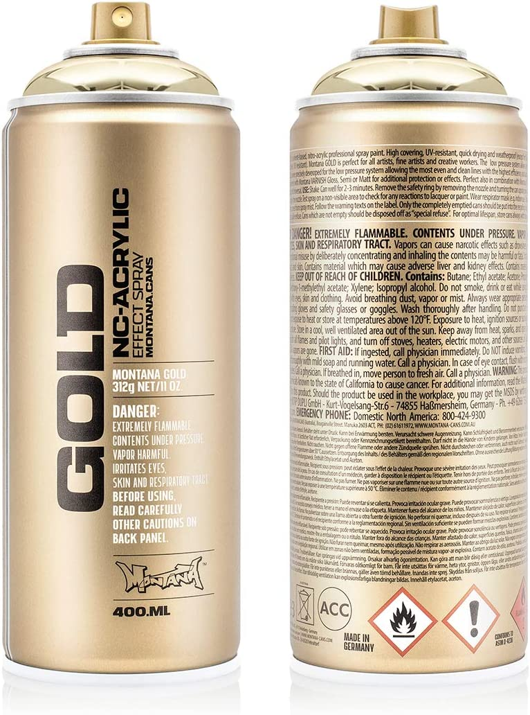 Montana Cans Gold Chrome Spray Paint