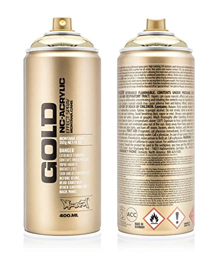 Montana Cans MXG-M3000 Montana Gold 400 ml Color, Goldchrome Spray Paint,