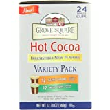 Grove Square Hot Cocoa Irresistible Flavors Variety Pack, 24 Single Serve Cups