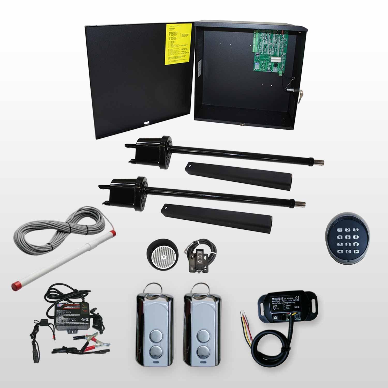 Apollo 1600 doble Kit de Abridor de puerta oscilante 4 solar profesional operador: Amazon.es: Bricolaje y herramientas
