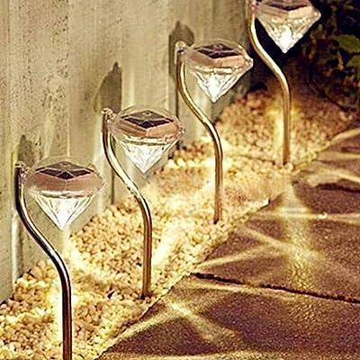 Xuprie LED Lawn Light Solar Light Outdoor Rainproof Garden Light Street Light In-Ground Lights: Clothing