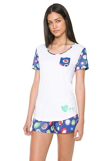 Desigual 61NL0T6 - T-Shirt - Manches Courtes - Femme  Amazon.fr ... f1623383bf98