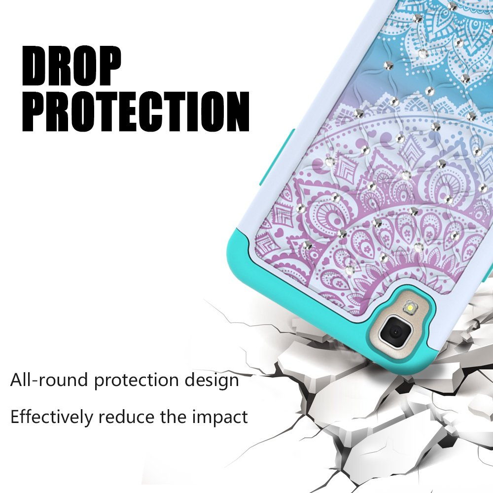 Lg Tribute Hd Case X Style Volt 3 Diagram Together With Virgin Mobile On Cell Phone Camera Urspeedtekliveshock Absorpt Studded Rhinestone Bling Hybrid Dual Armor Defender Cover