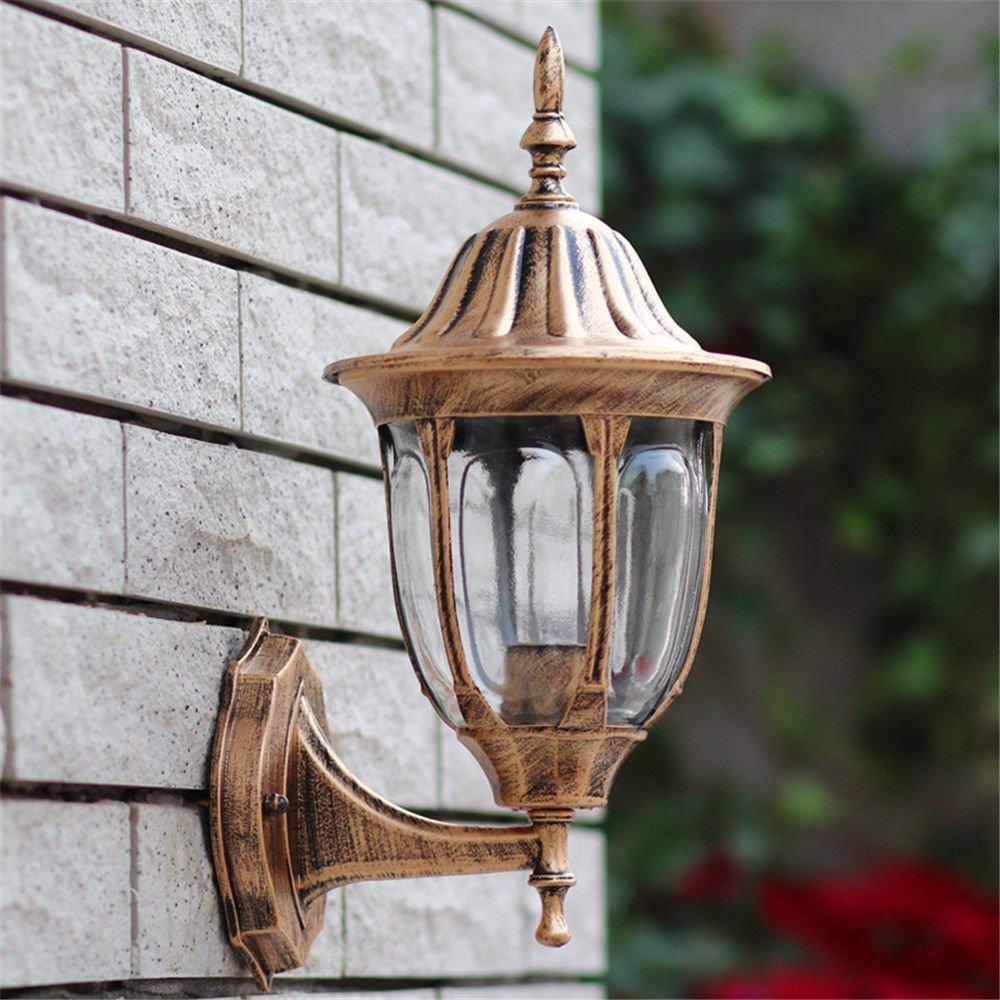 BAJIAN-LI Nordic Modern Outdoor Staffa Luce Villa Retro Balcone corridoio Lampada Decorativa Impermeabile, coloreBronze Colore Bronzo