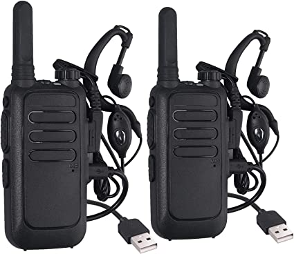 Amazon Com Neoteck 16 Channel Rechargeable Walkie Talkie With Earpiece Vox Hands Free Ski Two Way Radios 2 Pack Car Electronics