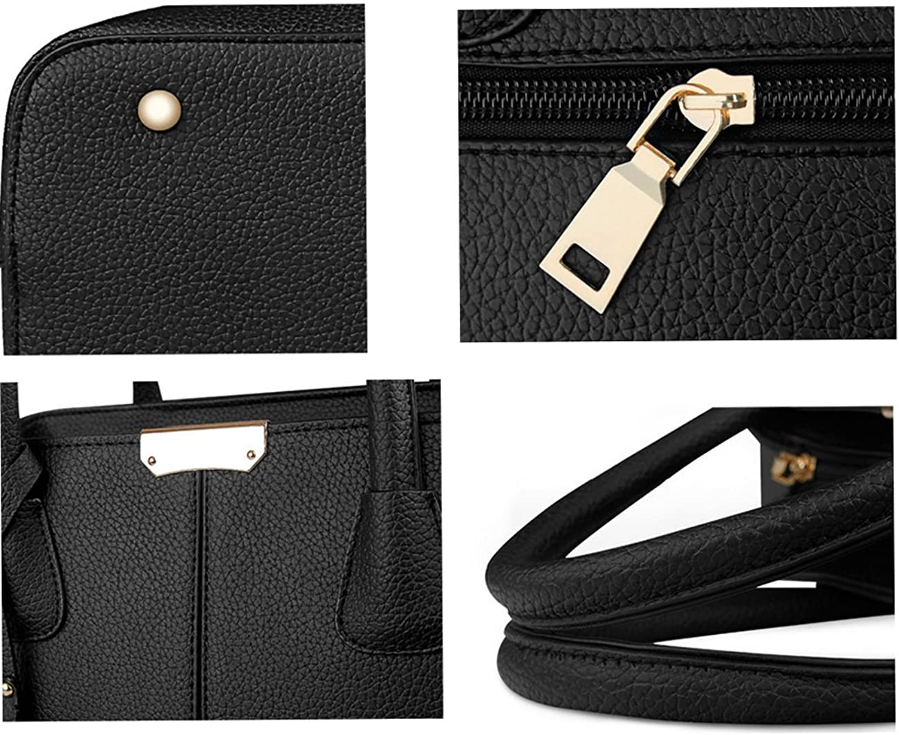 B/&E LIFE Stylish Women Pu Leather Vertical Utility Top Handle Handbag Satchel Tote Purse Bag