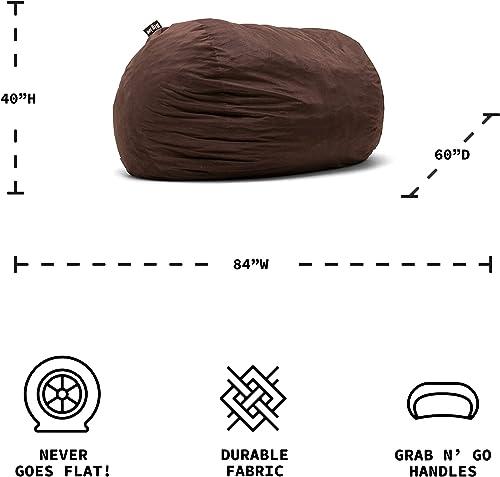Big Joe Lenox Fuf Foam Filled Bean Bag, Extra Extra Large, Cocoa