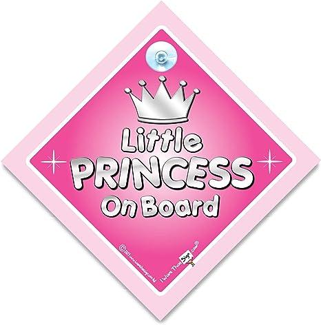 Little Princess On Board Silber Aufschrift Princess On Board Autoschild Motiv Prinzessin Aufkleber Sticker Für Schilder Baby On Board Schild Baby On Board Schild Princess Prinzessin Car Sign Schild Baby Sport Freizeit