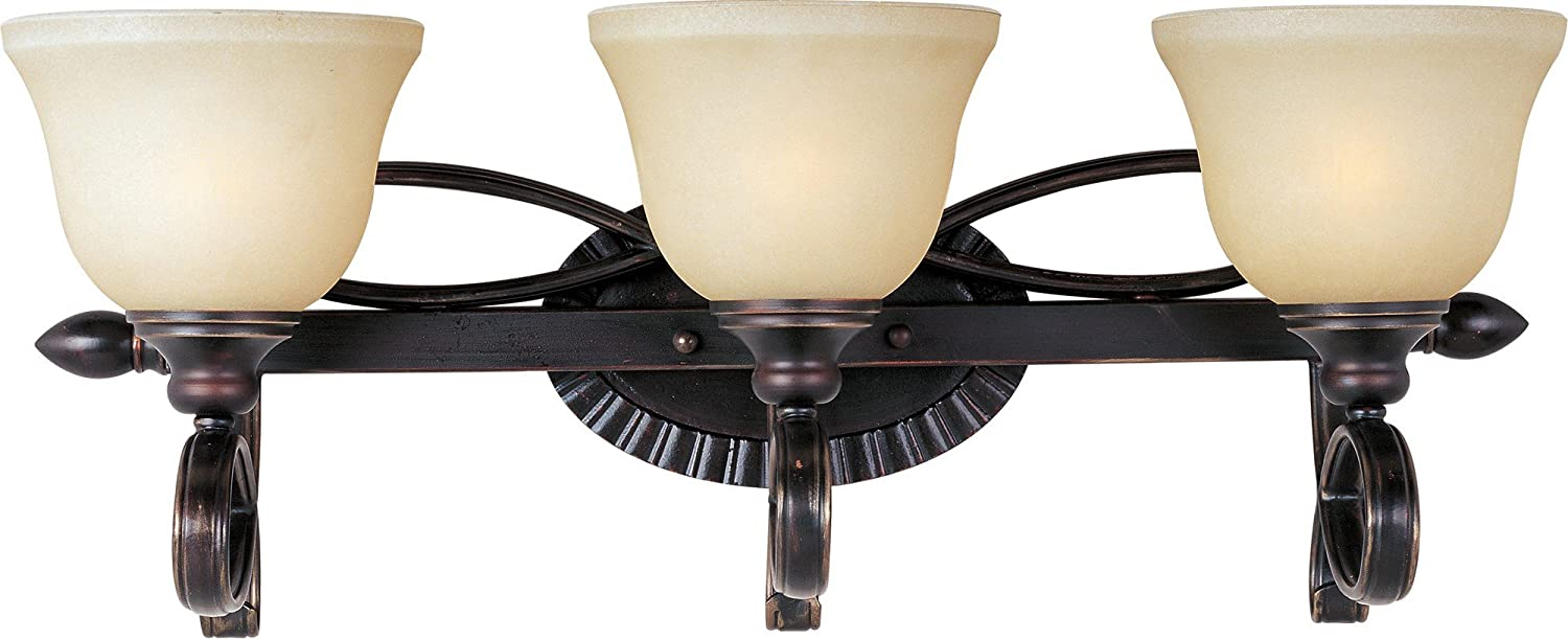 15W Max. Maxim 21314WSOI Infinity 4-Light Bath Vanity 2800//2900K Color Temp Oil Rubbed Bronze Finish 1050 Ra Opal Acrylic Shade Material Wilshire Glass Damp Safety Rating MB Incandescent Incandescent Bulb Standard Triac//Lutron or Leviton Dimmable