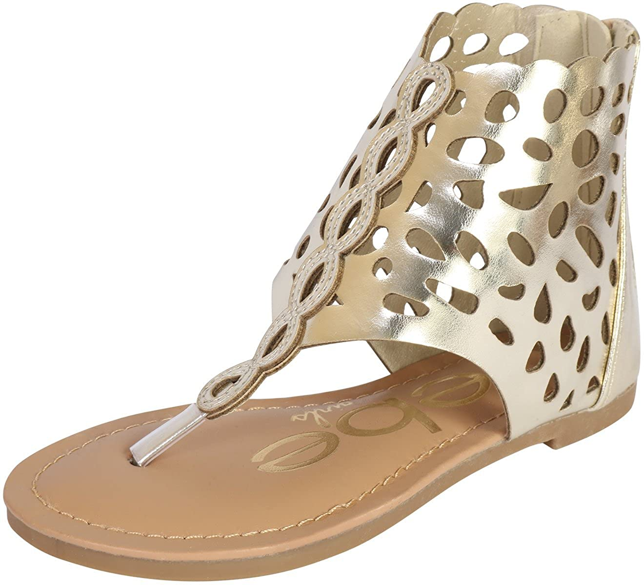 bebe Girls Gladiator Thong Sandal (Toddler/Little Kid/Big Kid)