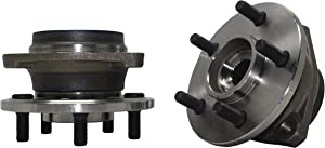 Detroit Axle - New (Both) Front Wheel Hub and Bearing Assembly for 1990 1991 1992 1993 1994 1995 1996 1997 1998 Jeep Cherokee Comanche Grand Cherokee TJ Wrangler