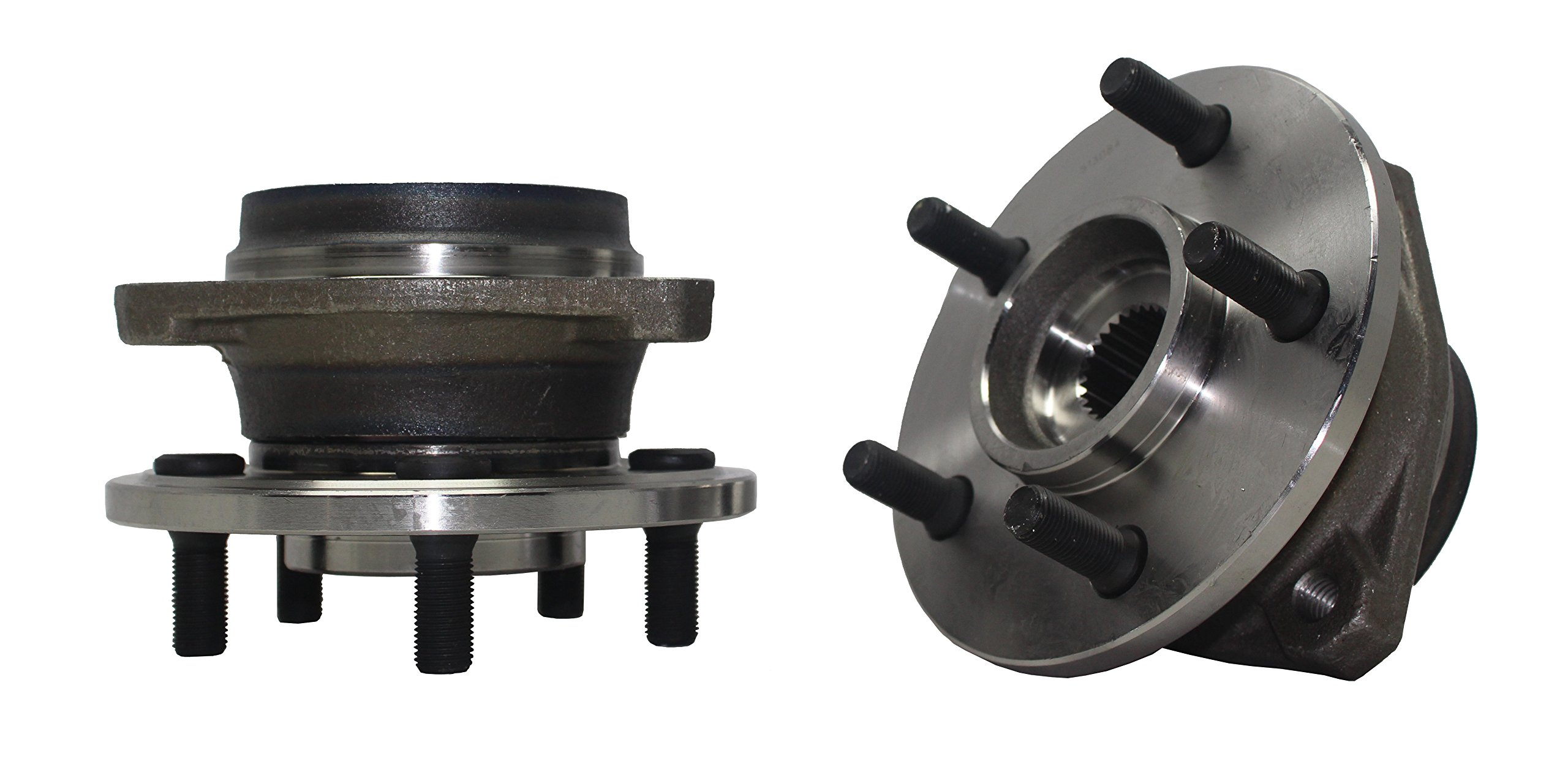 Detroit Axle - 4WD New (Both) Front Wheel Hub and Bearing Assembly for Jeep Cherokee Comanche Grand Cherokee TJ Wrangler - Composite Rotor Only