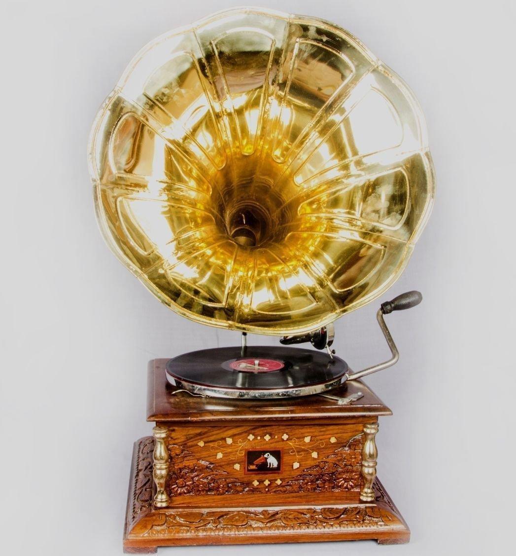 【好評にて期間延長】 グローバルアートWorldヴィンテージ1880 03 HMV HB Gramaphoneでアンティーク古い音楽正方形ボックスPhonograph HMV HB 03 B071YTHTQB, ブライダルインナー専門店 SF:39dcda67 --- mrplusfm.net