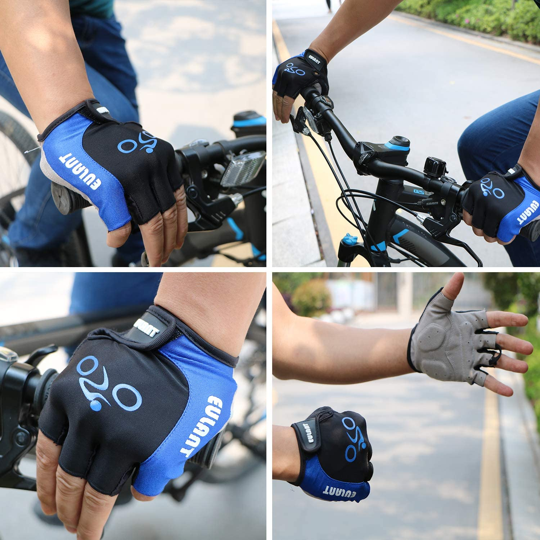 EULANT Medio Dedo Guantes de Bicicleta Guantes Cortos Bici Verano