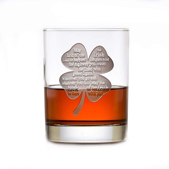 Luck Of The Irish Whisky Glass