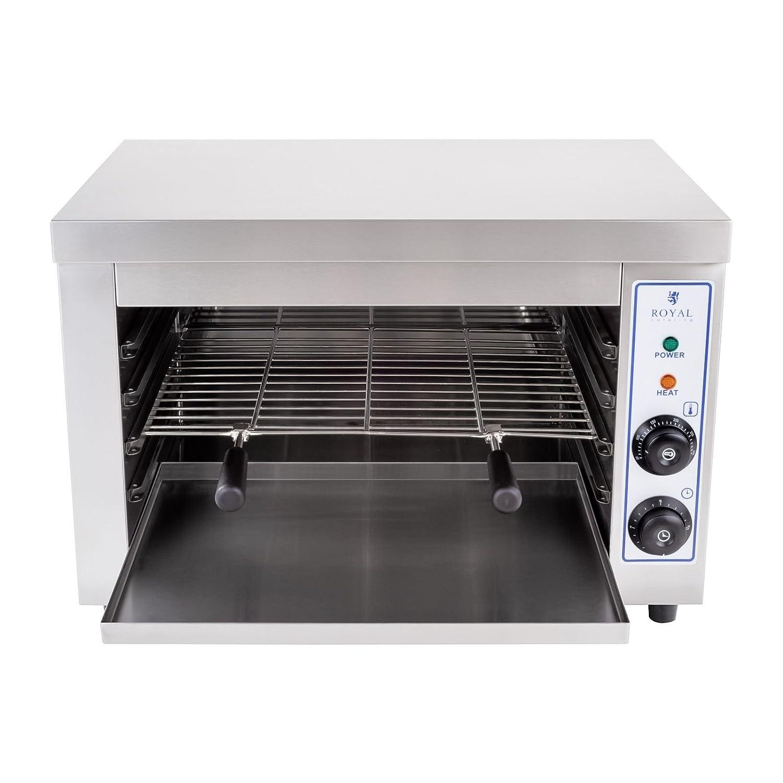 Royal Catering - RCES-580 - Horno Tostador / Hornillo eléctrico - 230 V - 3,25 kW - 50 - 300° C - con Temporizador - Envío Gratuito: Amazon.es: Hogar