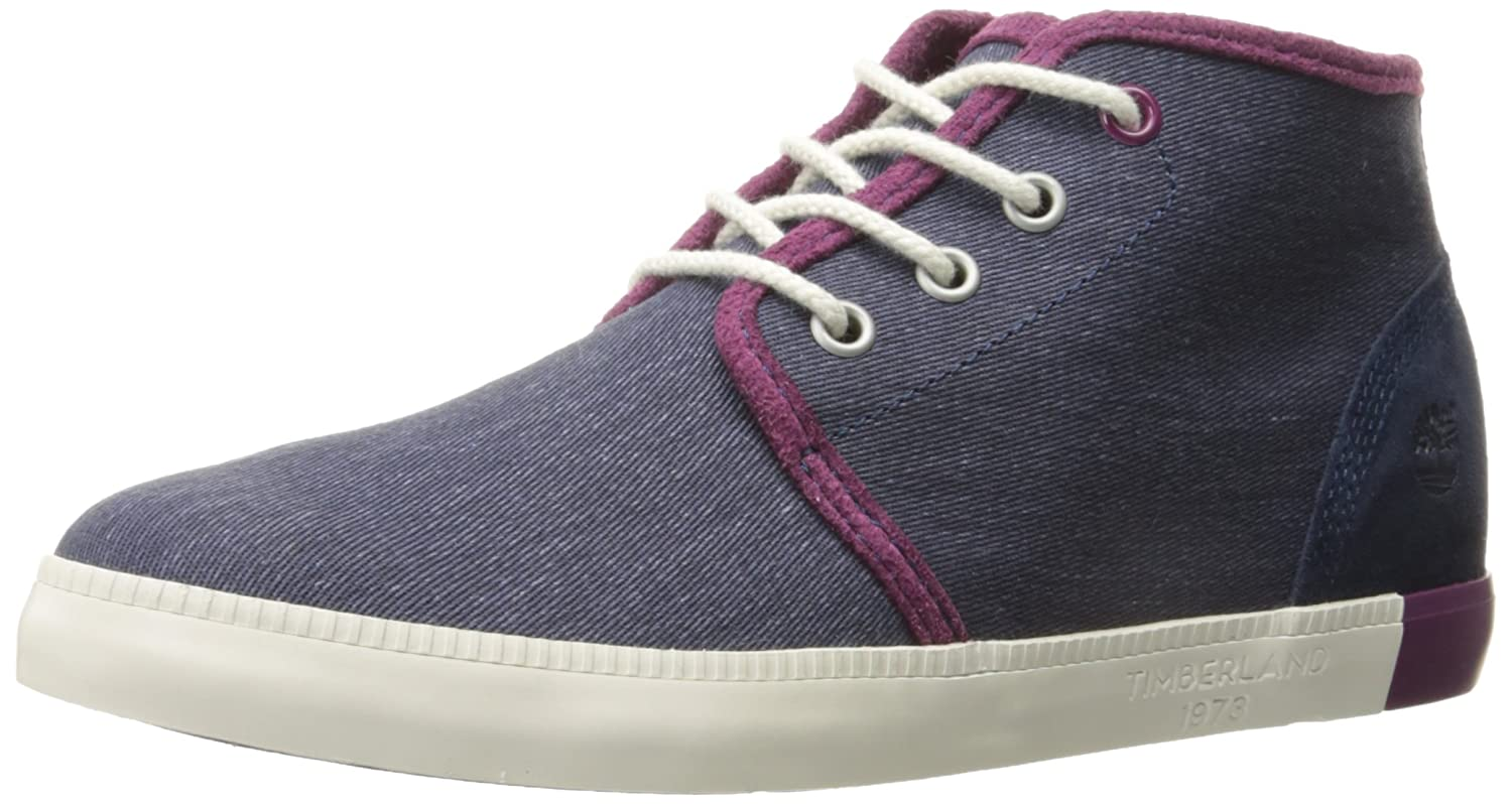 Womens Shoes Timberland Newport Bay Canvas Chukka Navy