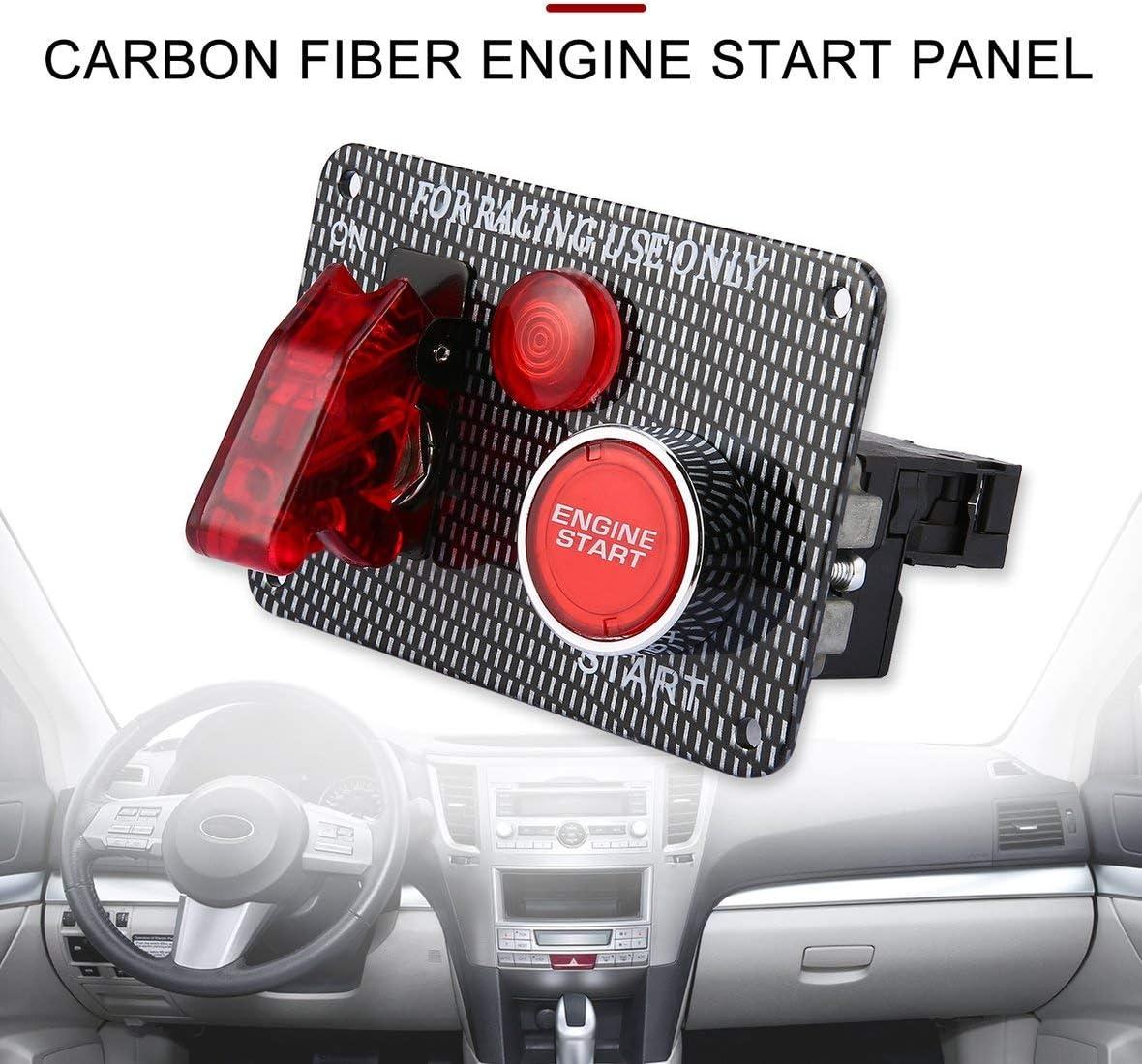 Heaviesk Rennwagen 12 V Z/ündschalter Panel Motorstart-Taster LED Kippschalter f/ür Fahrzeugmodifikation