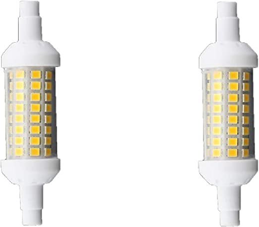 Bombilla LED R7S longitud 78mm 6400k 6W (pack 2): Amazon.es ...