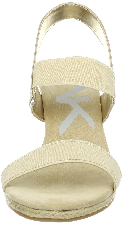 Anne Klein Sport Women's Florence US Wedge Sandal,Black/Black Fabric,10 M US Florence B008YI33KE 8 B(M) US|Natural de3963