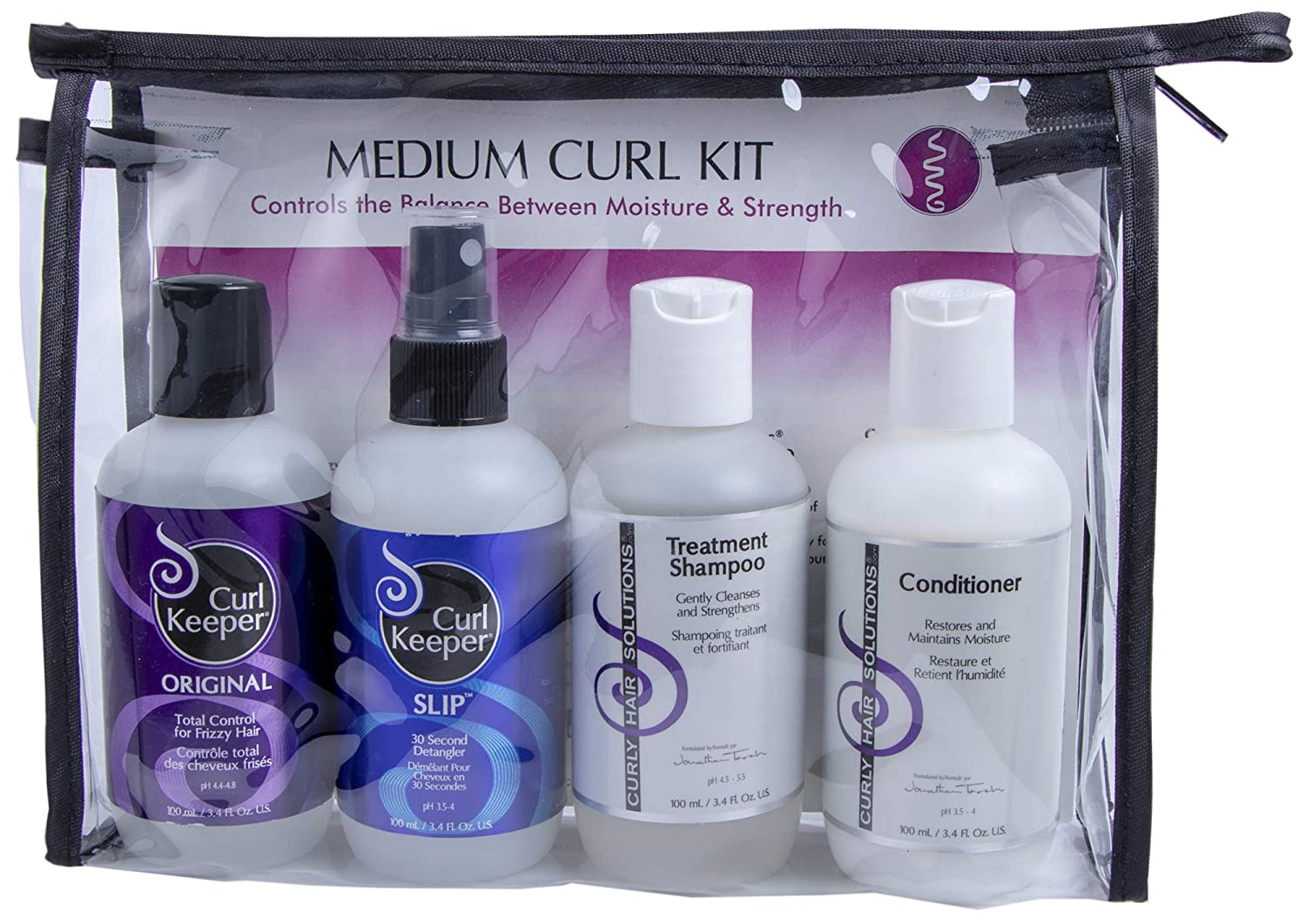 Curly Hair Solutions® Medium Curl Travel Kit (4 x 3.38oz) 2284