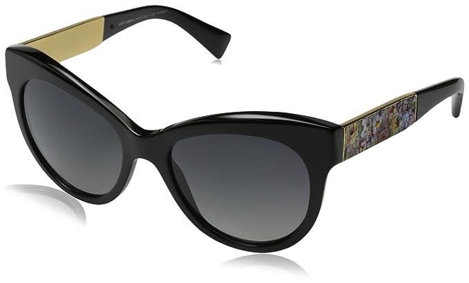 c2ab74e0bb87 D G Dolce   Gabbana Women s Mosaico Collection Polarized Round Sunglasses