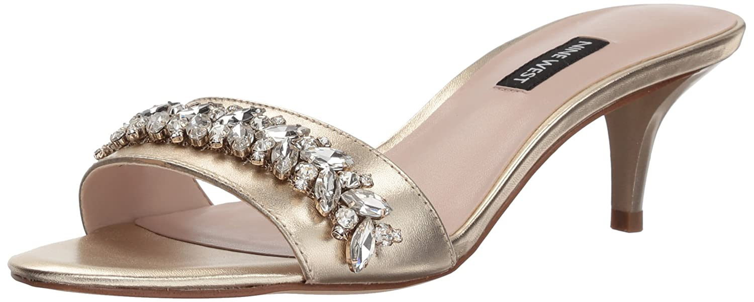 ed3e2facbdb3ce Nine West Women s Lelon Metallic Mule  Buy Online at Low Prices in India -  Amazon.in