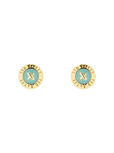 1ae7b7b2c Ted Baker Eisley Gold and Sage Enamel Mini Button Earrings: Amazon.co.uk:  Jewellery
