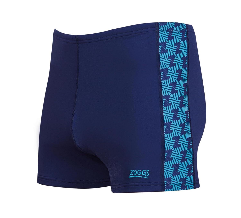 Zoggs - Bañador para natación de Hombre, a Prueba de Cloro, Solo, Hombre, Color Azul Marino y Verde, tamaño Talla 30