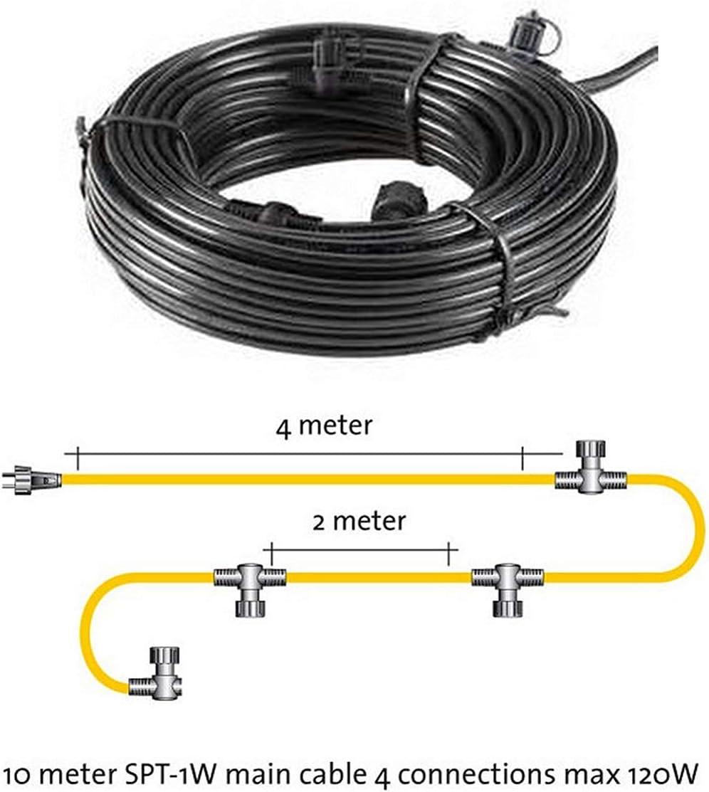 Outdoor Garden Lighting 4 moulded connectors Techmar Main cable SPT-1 10m