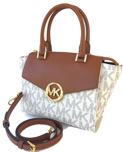 3001502a4fac Amazon.com  Michael Kors Hudson Medium Satchel Crossbody Bag Vanilla  Shoes