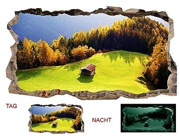 Startonight 3D Tapete Berghütte, Wandmalerei Bild An Der Wand Großformat  Modern Muster Dekorative Kunst Wand