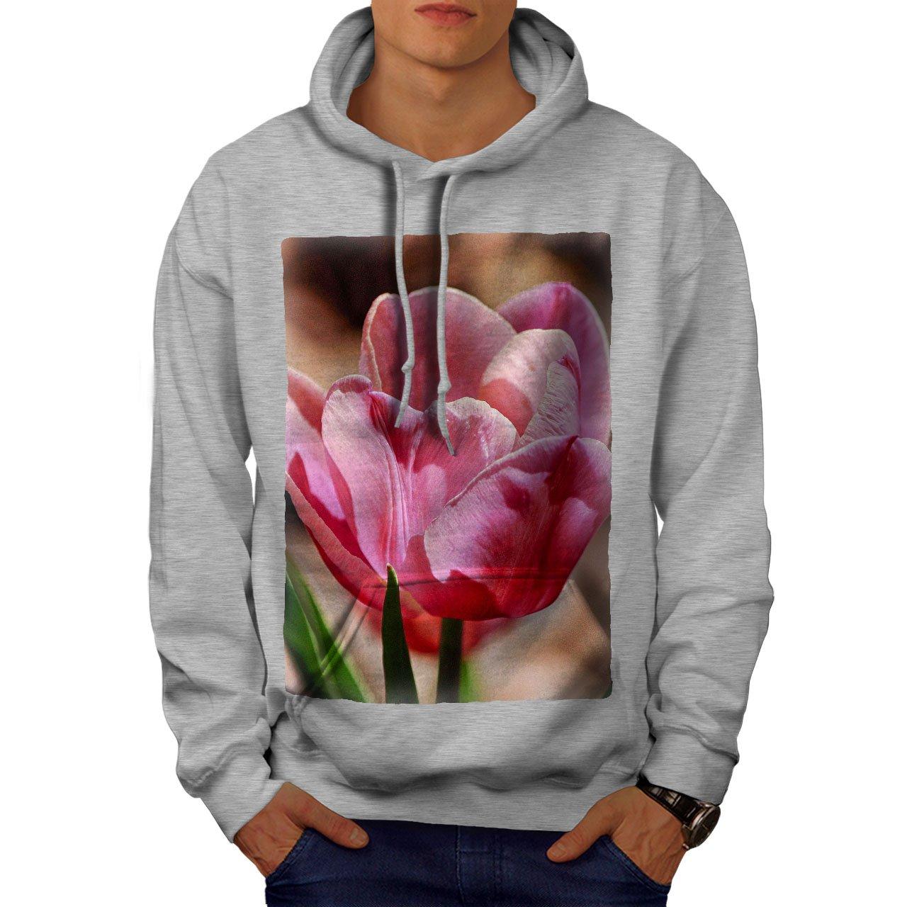 wellcoda Summer Flower Sun Mens Hoodie Nature Hooded Sweatshirt