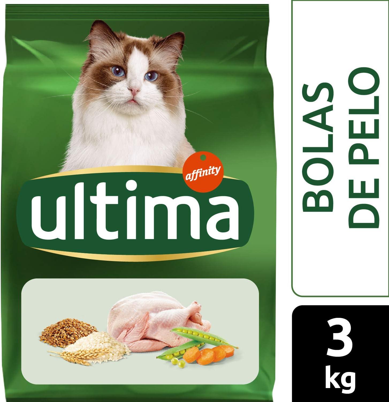 Ultima Pienso para gatos para prevenir bolas de pelo, con pavo - 3 ...