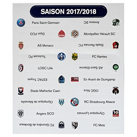 LFP - Set Logo équipes Conforama Ligue 1 pour Le Tableau magnétique de classement Saison 2017/18: Amazon.fr: Sports et Loisirs